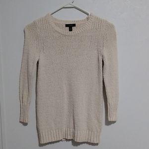 J Crew Linen Blend Cream Sweater XXS
